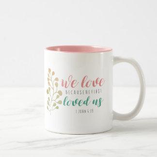 Watercolor-Kraut-christliche Bibelvers-Tasse Zweifarbige Tasse