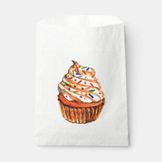 Watercolor-Kuchen-rotes Wedding Brautparty-Party Geschenktütchen