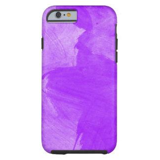 Watercolor-lila Bürsten-Anschläge Tough iPhone 6 Hülle