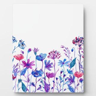 Watercolor-lila Feld-Blumen Fotoplatte