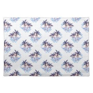 Watercolor-lila geometrisches Palme-Muster Tischset