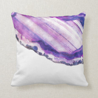 Watercolor-lila violetter Achat Geode Kissen