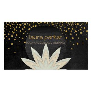 Watercolor-Lotos-Blumen-Logo-Yoga-heilende Visitenkarten