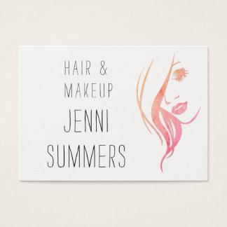 Watercolor-Minimalist bilden u. Haar-Stylist Visitenkarte