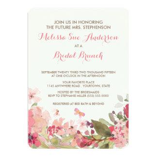 Watercolor mit Blumen und 12,7 X 17,8 Cm Einladungskarte