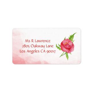 Watercolor-Mohnblumen-Blumen-Adressen-Etiketten Adressaufkleber