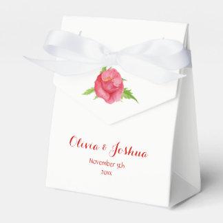 Watercolor-Mohnblumen-Blumen-Gastgeschenk Geschenkschachtel
