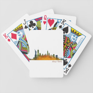 Watercolor New York Skyline Bicycle Spielkarten
