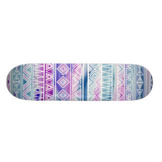 Watercolor-Pastellazteke-inspiriertes Muster Personalisiertes Skateboarddeck