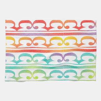 Watercolor Pattern Rainbow - Aquarell Muster Geschirrtuch