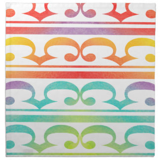 Watercolor Pattern Rainbow - Aquarell Muster Serviette