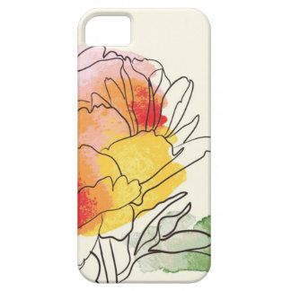 Watercolor-Pfingstrosen-Blumen Etui Fürs iPhone 5