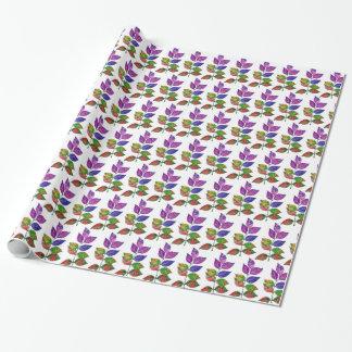 Watercolor-Regenbogen-Blätter Geschenkpapier