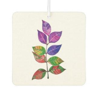 Watercolor-Regenbogen-Blätter Lufterfrischer