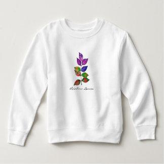 Watercolor-Regenbogen-Blätter Sweatshirt