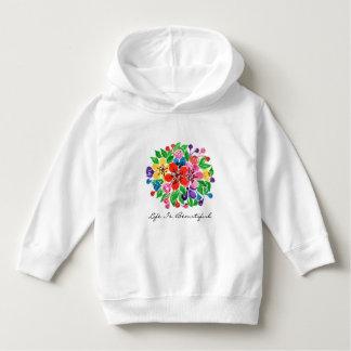 Watercolor-Regenbogen-Blumen Hoodie