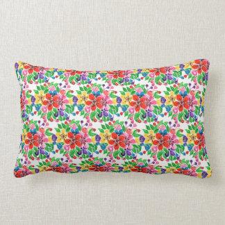 Watercolor-Regenbogen-Blumen Lendenkissen