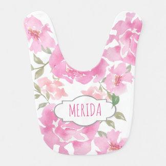 Watercolor-rosa Pfingstrosen niedliches mit Lätzchen