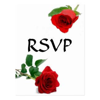 Watercolor-Rote Rose - UAWG Postkarte
