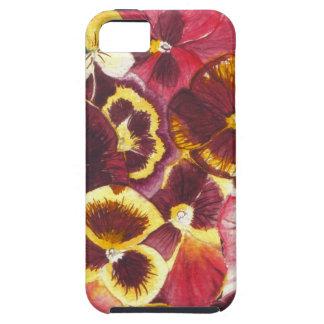 Watercolor-Stiefmütterchen iPhone 5 Schutzhülle