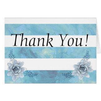 Watercolor Striped Blumen-Baby-Dusche danken Ihnen Karte