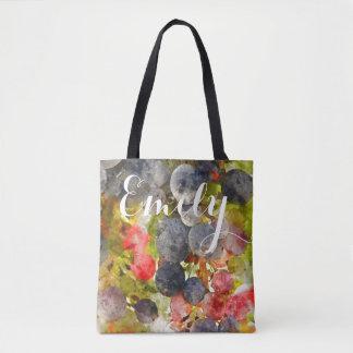 Watercolor-Trauben-Taschen-Tasche Tasche