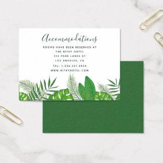 Watercolor-tropisches Blätter, das Anpassungen Visitenkarte