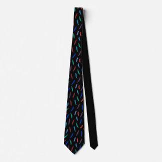 Watercolor versieht Krawatte mit Federn