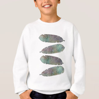 Watercolor versieht Shirt, Kleidung mit Federn Sweatshirt