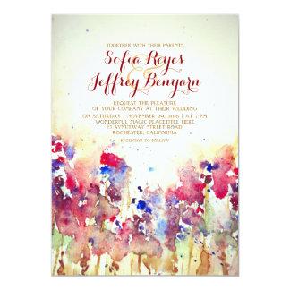 Watercolor-Vintage Hochzeit laden - Wiesen-Blumen 12,7 X 17,8 Cm Einladungskarte