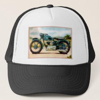 Watercolor-Vintages Motorrad Truckerkappe