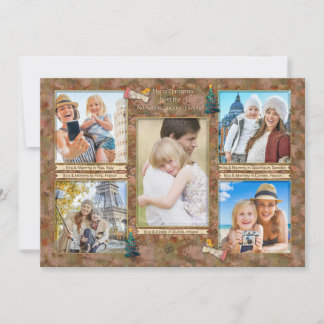 Watercolor Christmas Photo Collage Personalized