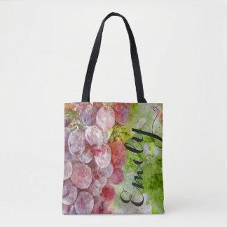 Watercolor-Wein-Weinberg-Taschen-Tasche Tasche