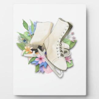 Watercolor-Zahl Skate-Gewohnheits-Geschenkartikel Fotoplatte
