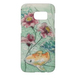 watercolored Blumen und Fische 3