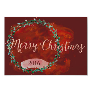 Watercolored warme WeihnachtsAnsammlung Karte