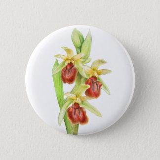 Watercolorkunst-Knopf-Abzeichen Orchidee der Runder Button 5,1 Cm