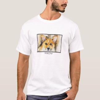 Watercolorpembroke-Walisercorgi-T - Shirt
