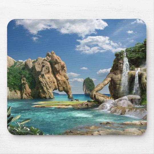 Waterfalls Ocean - Mauspad