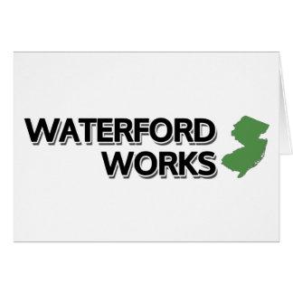 Waterford-Arbeiten, New-Jersey Karte