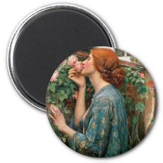 Waterhouse das Soul des Rosen-Magneten Runder Magnet 5,7 Cm