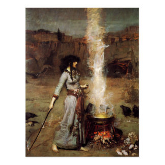 Waterhouse die magische Kreis-Postkarte Postkarte