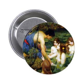 Waterhouse Hylas und der Nymphen-Knopf Runder Button 5,1 Cm