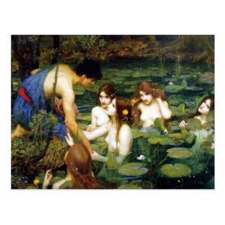 Waterhouse Hylas und die Nymphen Postkarte