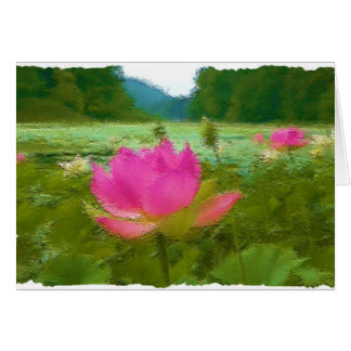 waterlillies grußkarte