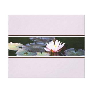 Waterlily Gespannter Galeriedruck