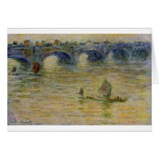 Waterloo-Brücke durch Claude Monet Karte