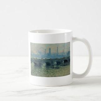 Waterloo-Brücke, graues Wetter durch Claude Monet Kaffeetasse