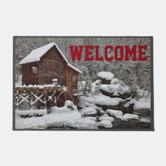 Watermill im Schnee-Willkommen Türmatte