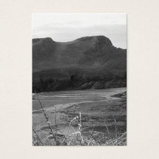 Watermouth, Devon, Großbritannien. Schwarzweiss. Visitenkarte